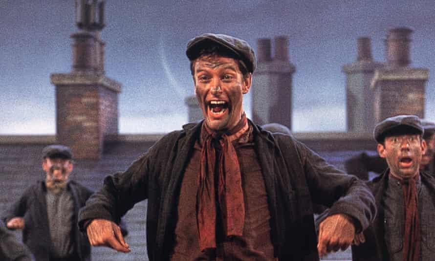 Dick Van Dyke as chimney-sweep Bert in Mary Poppins.