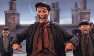 Dick Van Dyke in Mary Poppins.