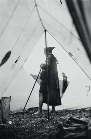Angus McBean, camp warden in tent, c. 1928