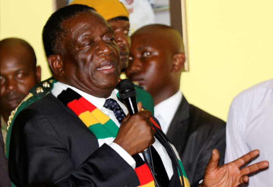 Emmerson Mnangagwa in Harare on 24 January.