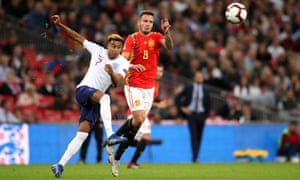 Jesse Lingard, one of England's better players in the match against Spain