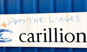 Graffiti at the site of the Royal Liverpool hospital, which was being built by Carillion