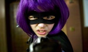 Kick Ass, starring Chloë Grace Moretz as Hit Girl.