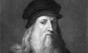 Voracious: a 19th-century engraving of Leonardo da Vinci.