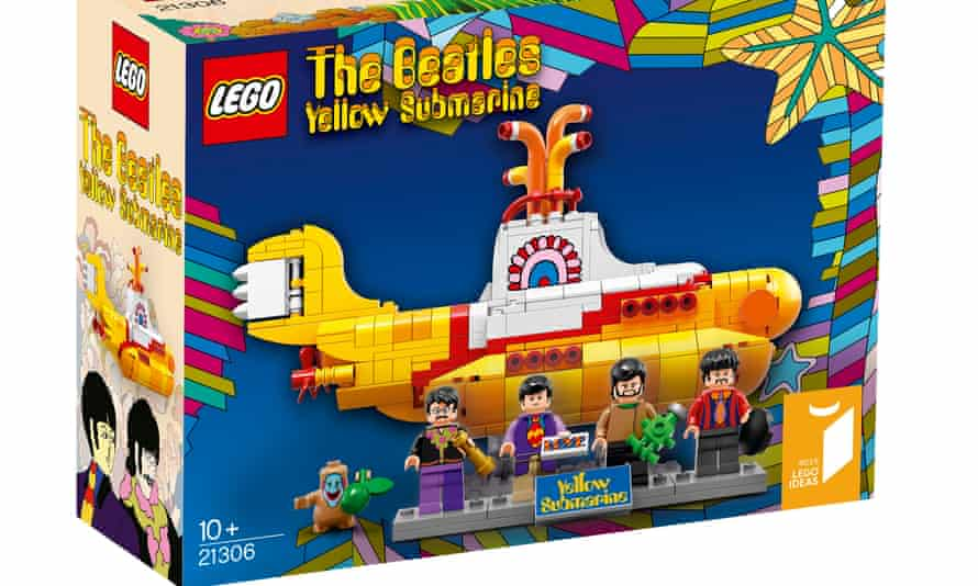 The Lego set based on the 1968 Beatles film Yellow Submarine, complete with a figure of Jeremy Hillary Boob – a character from the film voiced by Dick Emery.