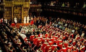 The Queen's Speech in the House of Lords.