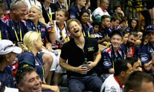 Prince Harry enjoying himself at the opening of the Invictus Games in Florida.