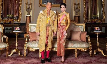 Thailand's King Maha Vajiralongkorn with royal noble consort Sineenat Wongvajirapakdi