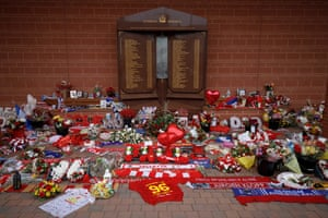 The memorial for the Hillsborough disaster victims underneath the main stand at Anfield.