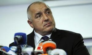 Bulgarian prime minister Boyko Borissov
