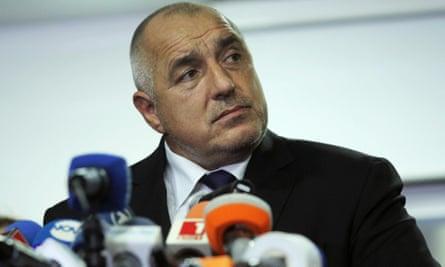 Bulgaria's prime minister Boiko Borisov