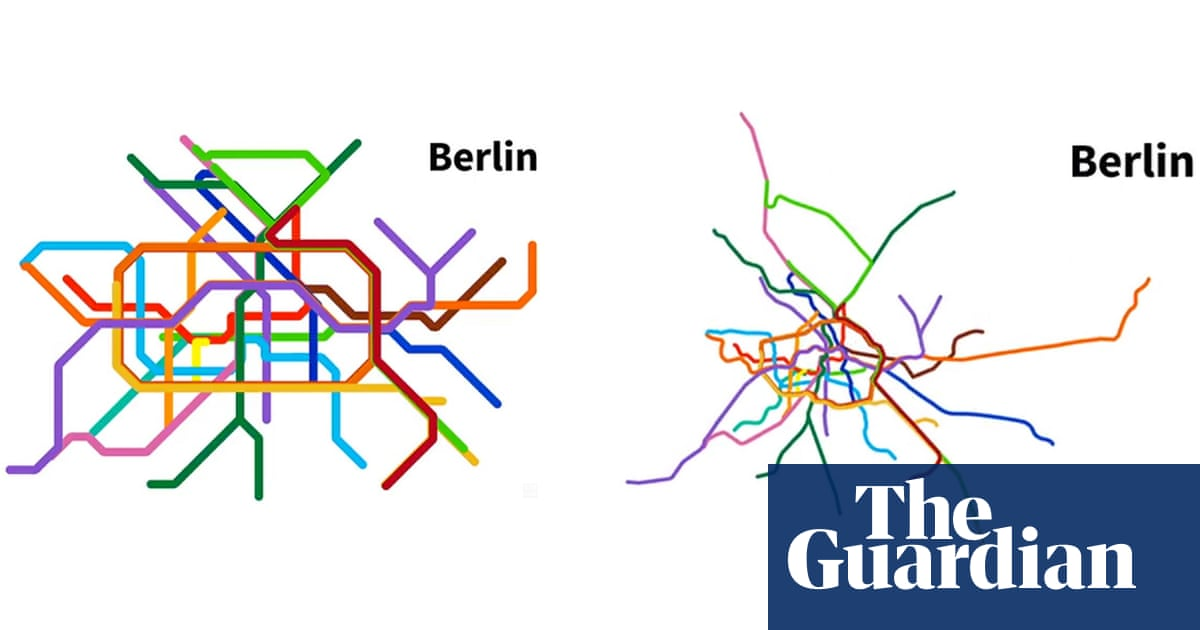 Twisted tracks: watch metro maps transform to real-life geography ...