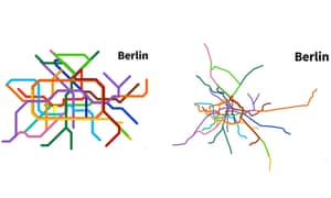 Nyc Subway Map Vs Actual.Twisted Tracks Watch Metro Maps Transform To Real Life Geography