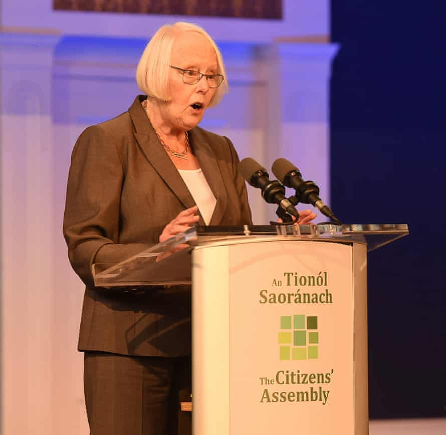 Mary Laffoy speaks during the citizens'€™ assembly set up to deliberate on Ireland'€™s strict abortion regime.