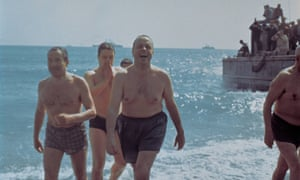 1966: Spanish foreign minister Manuel Fraga swims in the sea off Palomares with the US ambassador, Angier Biddle Duke, to prove the waters - and a budding tourist industry - were safe.