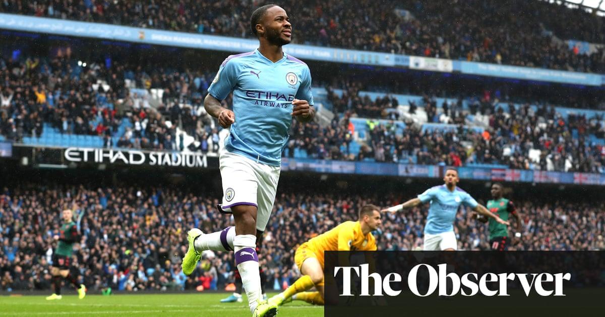 Manchester City's Raheem Sterling breaks Aston Villa's resistance
