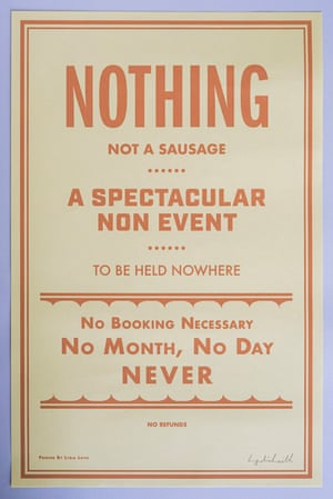 A special reminder of your social diary for 2020 Nothing Non Event poster, £25, lydialeith.com
