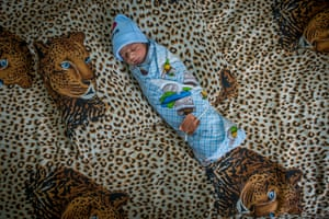 A newborn boy at the maternity hospital in Stepanakert, Artsakh, which is considered to be part of the Republic of Azerbaijan