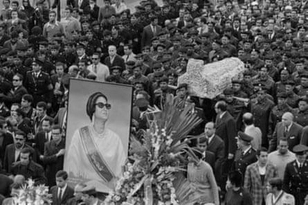 Umm Kulthum's funeral in 1975.