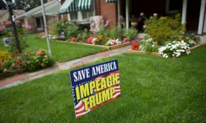 A residence displays an anti-Trump sign on the front lawn during Musikfest.