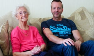 Stephen Blakeburn, 50, who cares for his mother, Jenny, 86, who was diagnosed with dementia in 2010.