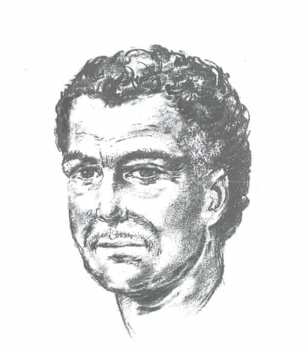 An artist's impression of the man who shot Naji Salim Hussain al-Ali
