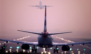 Planes take off at Heathrow airport