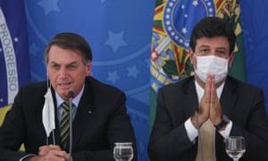 Bolsonaro with Luiz Mandetta earlier in March.