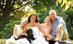 Australian prime minister Scott Morrison in family portrait with his shoe photoshop fail