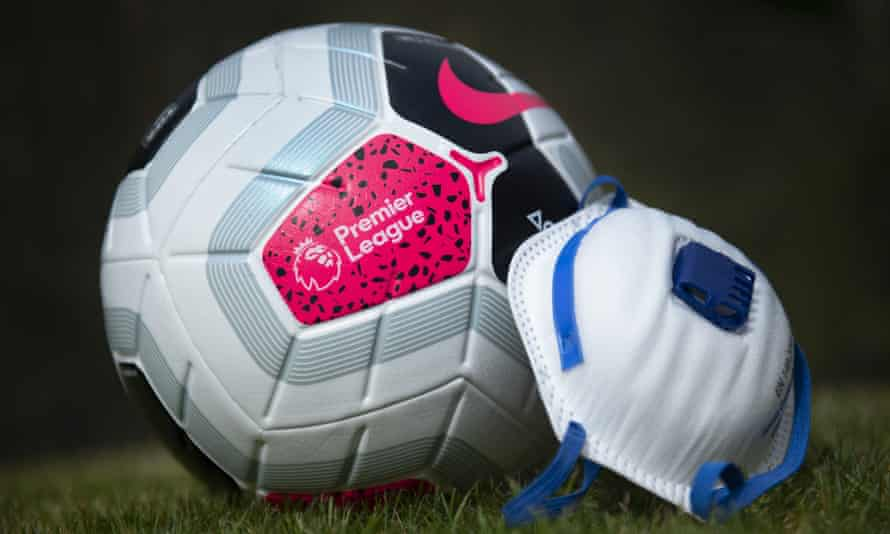 Premier League ball and mask