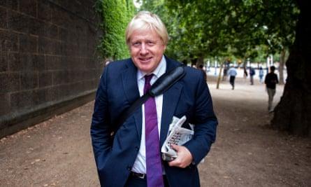Former foreign secretary Boris Johnson in central London.