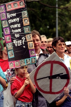 A pro-gun control demonstration in Sydney after the massacre