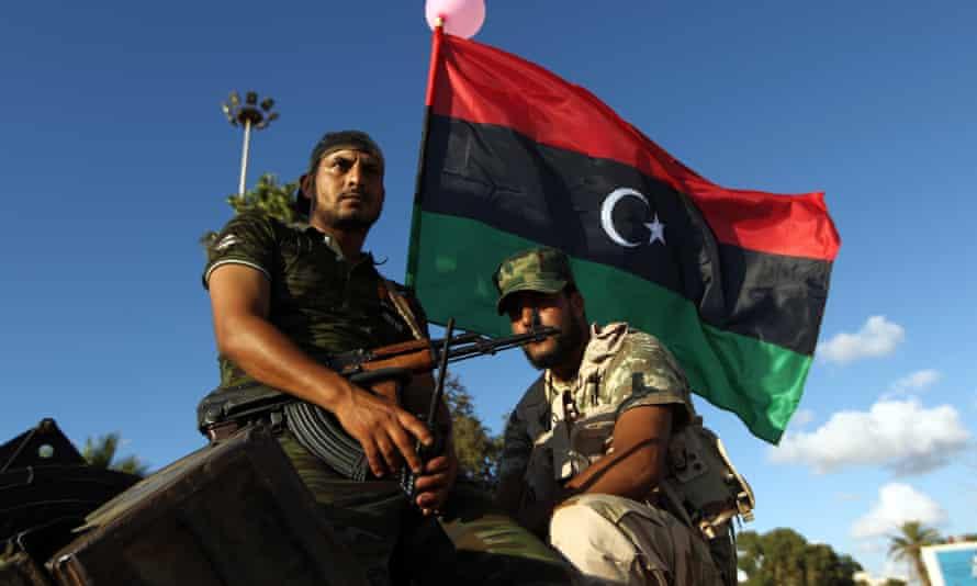 Libyan troops loyal to Khalifa Haftar in Benghazi.