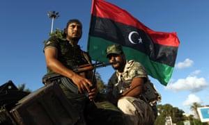 Libyan troops in Benghazi