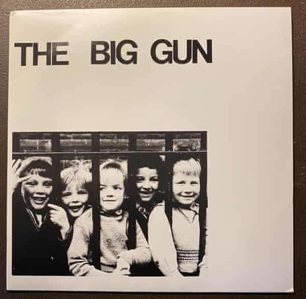 The sleeve of the Big Gun's single, which John Peel liked 'immoderately'.
