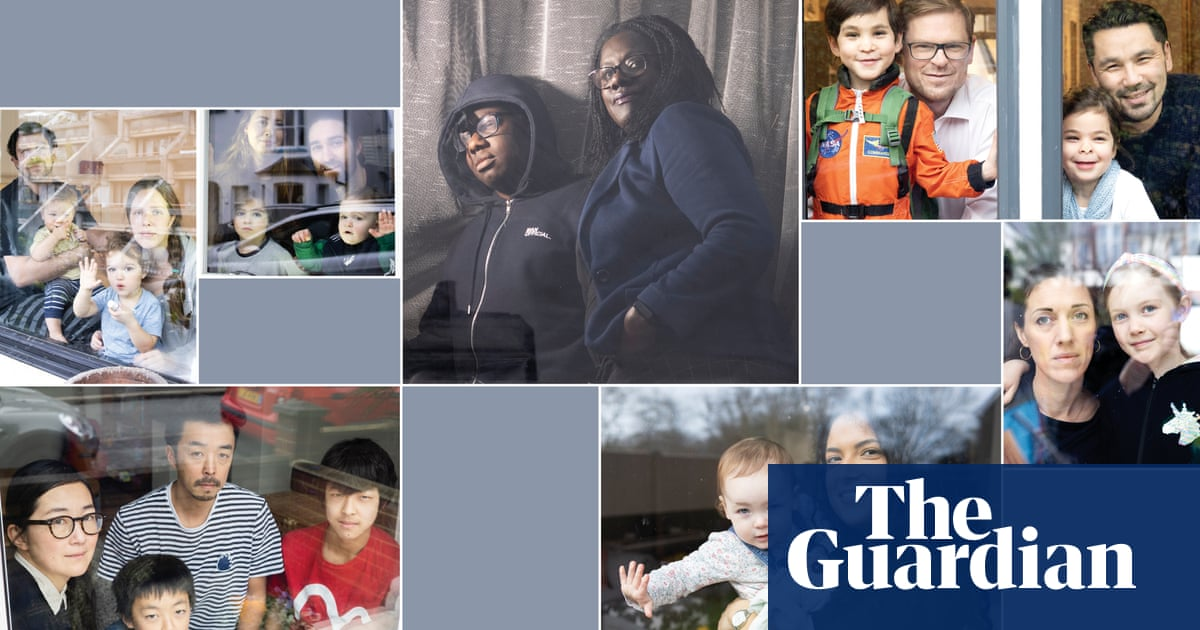 'Don't talk to papa until he's had his cup of tea': parents juggling work and family – photo essay