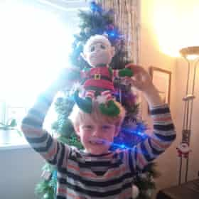 Jennifer's son Alex at home over Christmas.