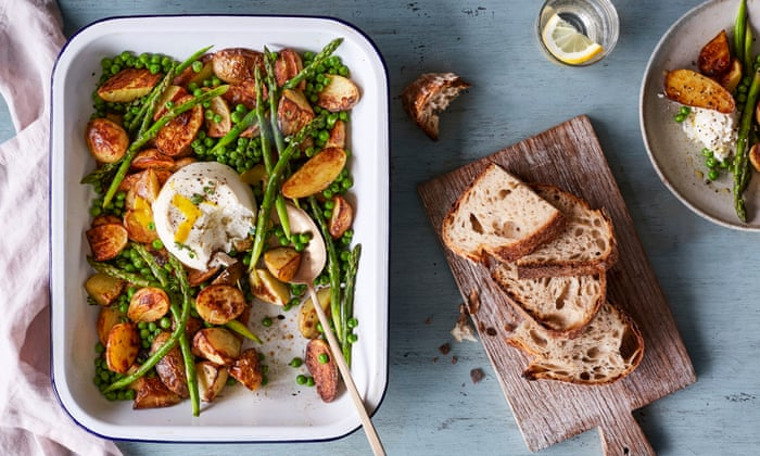 Rukmini Iyer's recipe for baked ricotta with new-season asparagus