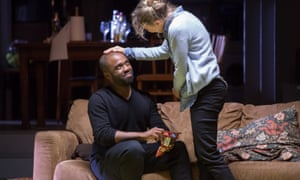 Eerie reverberations … Ken Nwoso as Oswald and Niamh Cusack as Mrs Alving in Ghosts.