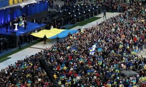 Ukraine's presidential candidates debate in Kiev.