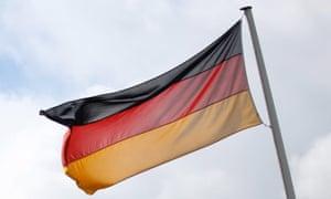A German flag.