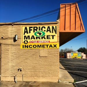 An African Market shop in Irving, Texas. This are zip-code is reputed to be the most diverse in the whole United States