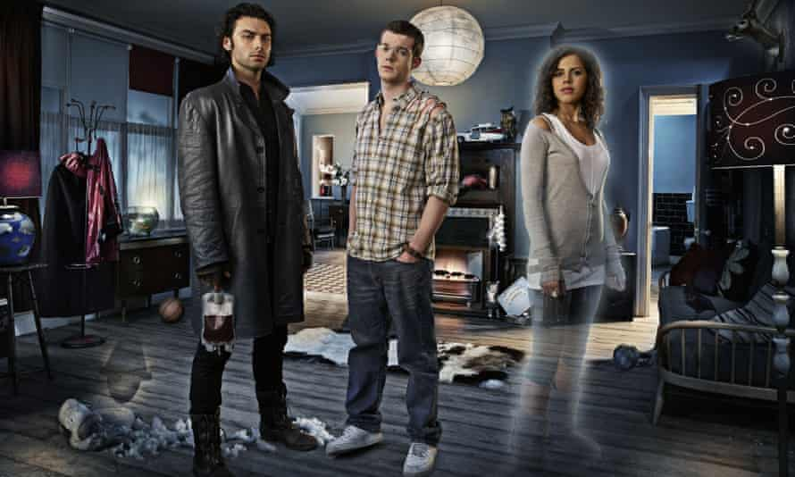 Being Human (left to right) Aidan Turner, Russell Tovey and Lenora Crichlow in the first series.