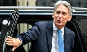 Britain's chancellor, Phillip Hammond