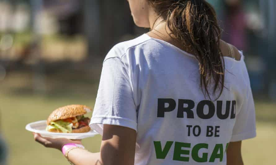 Girl wearing proud to be a vegan tshirt