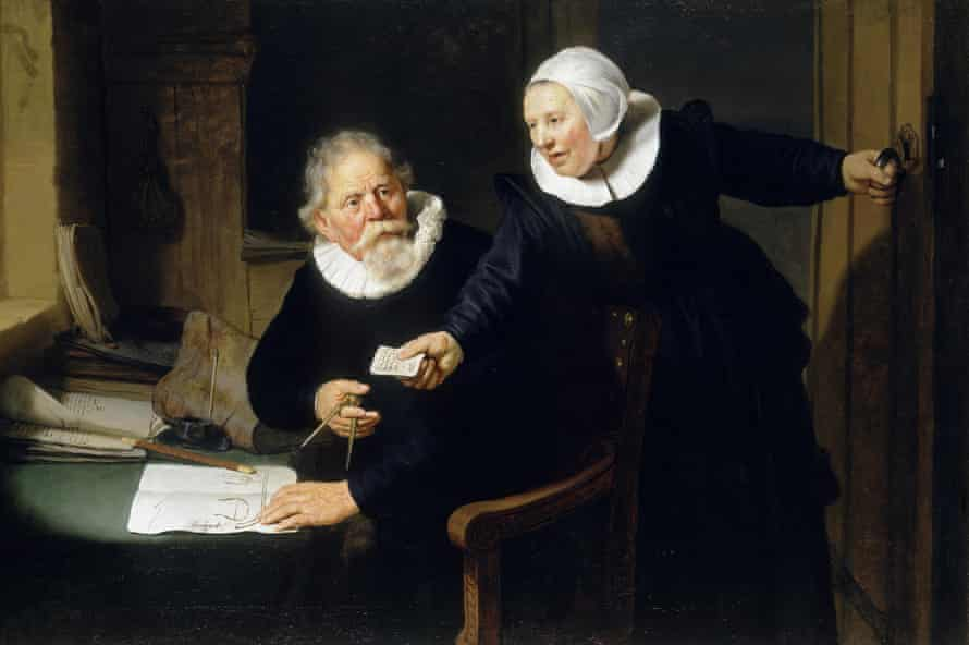 Consciously posing … Rembrandt's Portrait of Jan Rijcksen and his Wife, Griet Jans, 1633.
