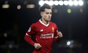 Philippe Coutinho has not featured for Liverpool since the game against Leicester City on 30 December.