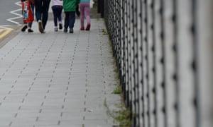 Children walk in Rotherham