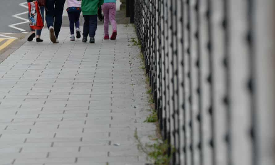 Children walk in Rotherham