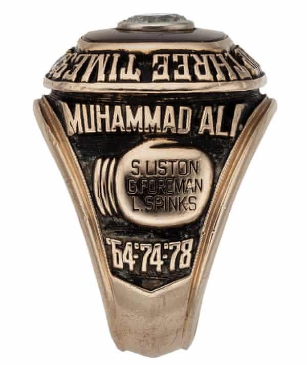 Muhammad Ali's three times world champion ring from 1978.
